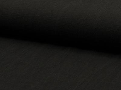 05m Leinen gewaschen schwarz
