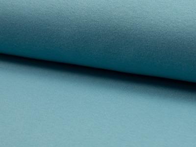 05m Bündchen glatt wasserblau aqua dusty