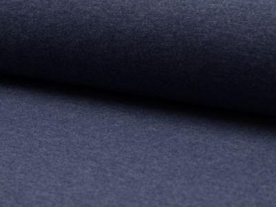05m Bündchen glatt meliert jeansblau dunkel