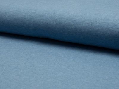 05m Jersey uni meliert himmelblau helles