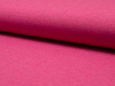 05m Jersey uni meliert fuchsia pink
