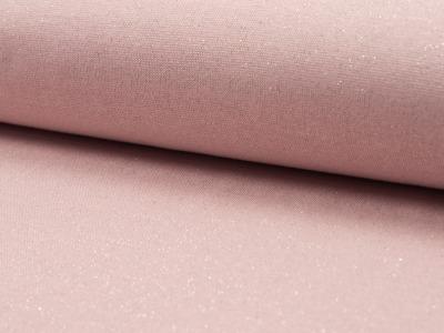 05m Bündchen Glitzer Lurex dusty rose