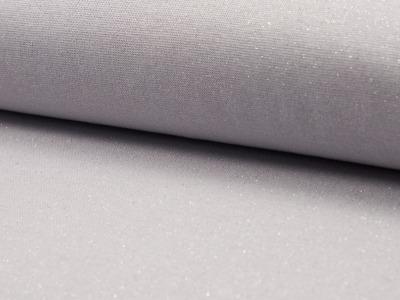 05m Bündchen Glitzer Lurex hellgrau silber