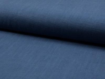05m Leinen gewaschen jeansblau dusty