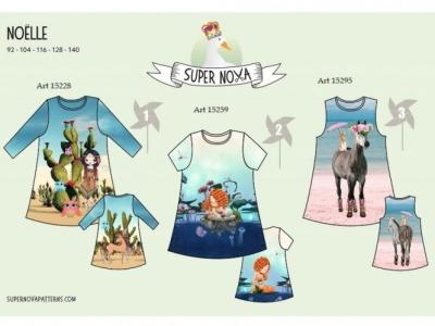 1Stk NOELLE Kinderkleid Papier Schnittmuster by
