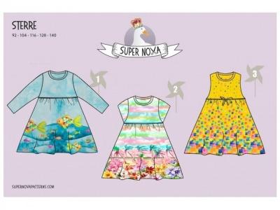 1Stk STERRE Kinderkleid Papier Schnittmuster by