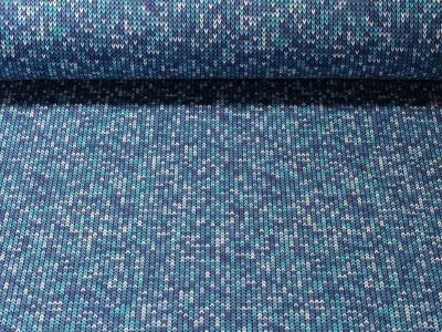 05m Jersey Kathy Strickoptik blau türkis