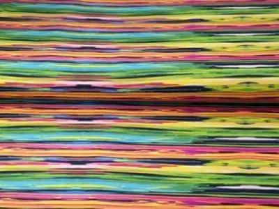05m Jersey Kunterbunte Streifen Digitaldruck bunt