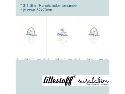 Panel Lillestoff Jersey Einhorn Elfe by