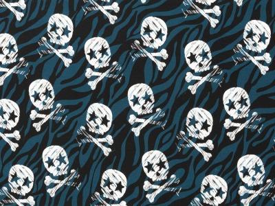 05m Jersey THEO Skulls Totenkopf petrol
