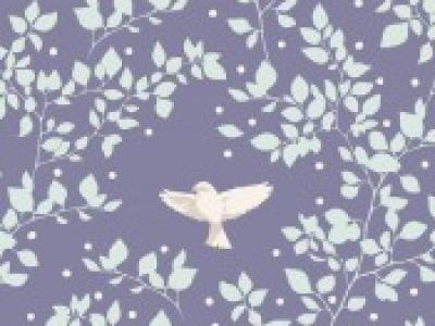 05m BW Tilda Birdie blueberry Tauben