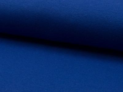 0,5m Bündchen blau Royalblau glatt