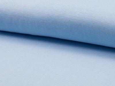 0,5m Bündchen baby blau hellblau bleu glatt