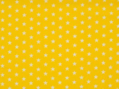 0,5m Jersey Mini Sterne klein weiß gelb Stars