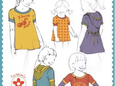 Papier Schnitt Rosita Shirt Tunika Hoodie