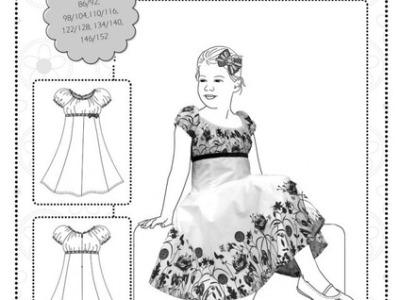 Papier Schnitt Elodie Drehkleid Kleid Farbenmix