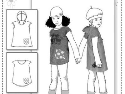 Papier Schnitt Amelie Kleid Tunika Farbenmix