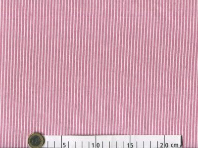 0 5m Baumwoll Denim Jeans Streifen rosa weiss