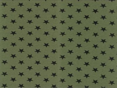 0,5m Jersey Kito Sterne meliert grün schwarz