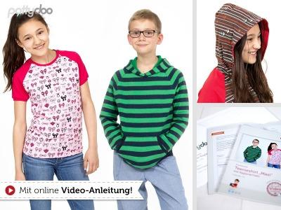 1Stk Maxi Raglanshirt Teens Papier Schnittmuster