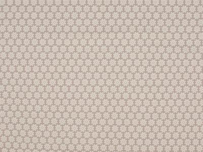 05m Jersey Blümchen taupe weiß grau