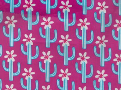 0 5m beschichtete Baumwolle Cactus Blossom pink