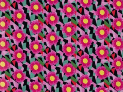 0,5m Jersey Cactus Blossom schwarz pink