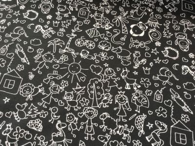 0,5m Jersey Kleine Kinder Motive schwarz weiß