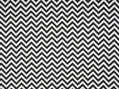 0,5m Jersey Chevron Zacken schwarz weiß Fischgrät