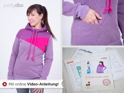 Schnittmuster Patty Doo Nelly Freestyle Hoddie