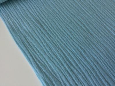 0 5m Mussline Double Gauze Hellblau Vintage Blue
