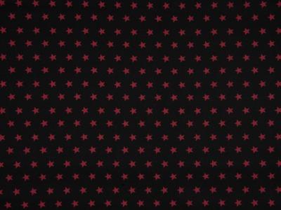 05m Jersey Sterne schwarz weinrot