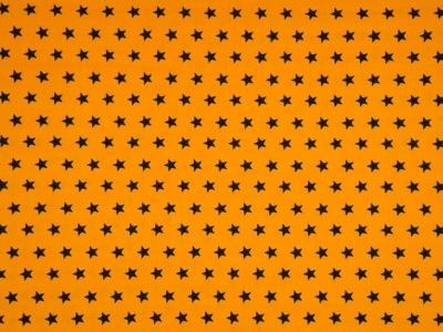 0,5m Jersey Sterne schwarz ocker gelb