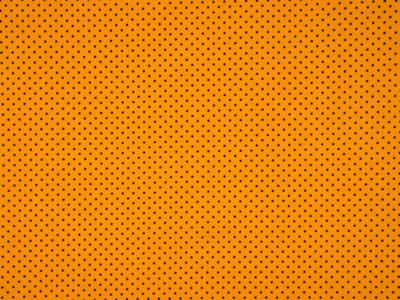 0,5m Jersey Mini Punkte schwarz ocker gelb
