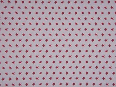 05m Jersey Sterne grau weinrot dunkelrot