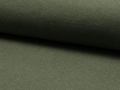 0,5m Bündchen meliert glatt Khaki grün