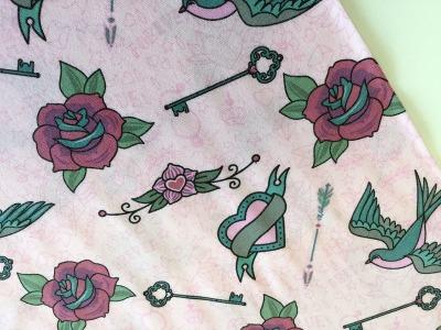 05m Jersey Tattoo Schwalbe Herz rosa