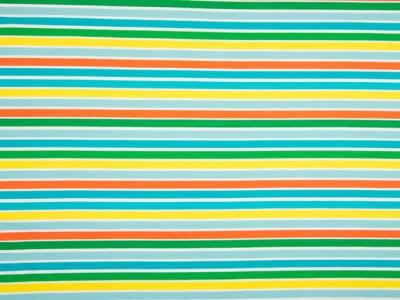 0,5m Jersey Ringel Streifen Kombi türkis gelb grün