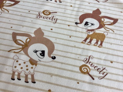 0,5m Jersey Hafenkitz Sweety Gold creme