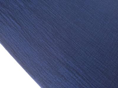 0 5m Musseline Double Gauze navy blau