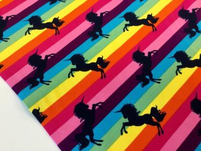 0,5m Jersey Einhorn Unicorn Regenbogen bunt