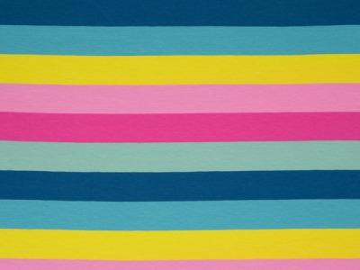 0,5m Ringel Jersey Streifen Lou Multi bunt 3cm