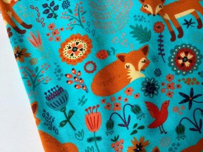 0,5m Jersey Fuchs Fox Türkis orange