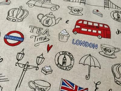 0 5m Canvas Taschenstoff Deko Leinen London