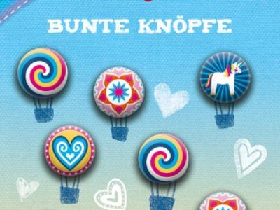 Bine Braendle Bunte Knoepfe Magical Love 8 Knoepfe