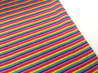 0,5m Ringel Bündchen glatt Regenbogen bunt