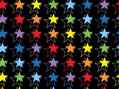 0,5m Jersey Lilofant Sterne bunt regenbogen
