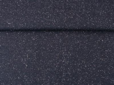 0,5m Bündchen Glitzer Lurex schwarz