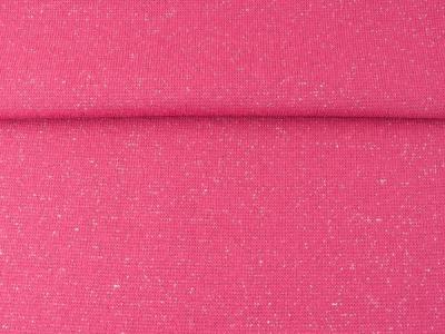 0,5m Bündchen Glitzer Lurex pink