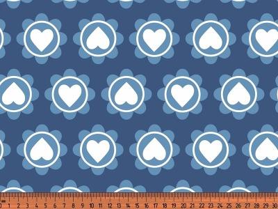 05m Jersey Retro Heart jeans blau